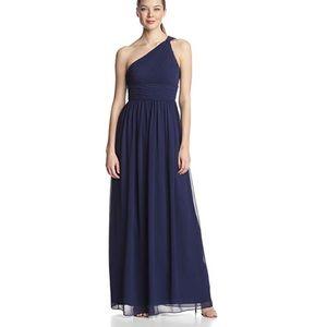 Donna Morgan Rachel chiffon one-shoulder dress